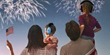 Noise cancelling headphones for kids and babies to help with fireworks