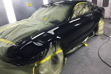 2013 Ford Mustang paint refinishing.