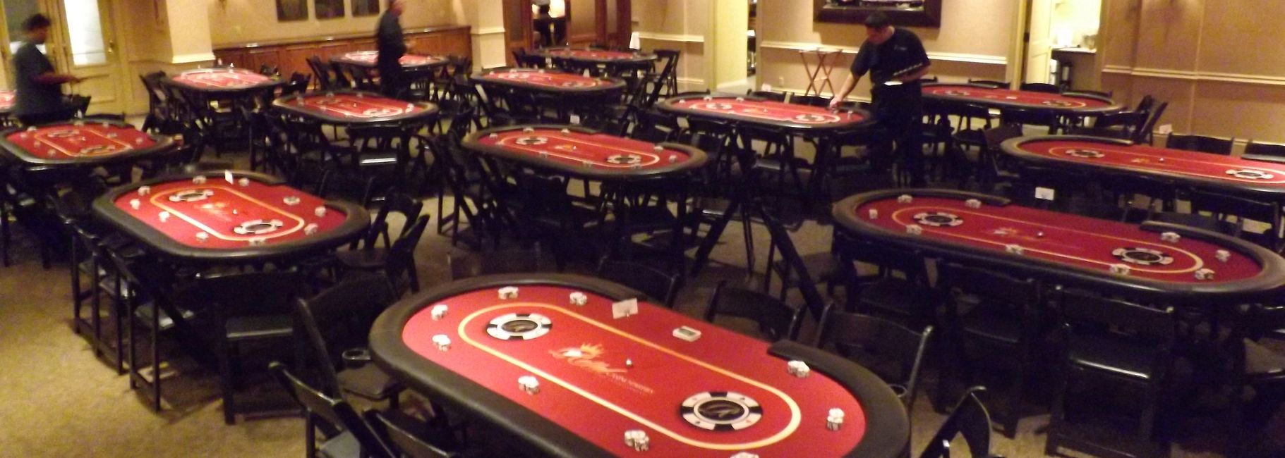 Poker Tables for Tournaments and Rentals