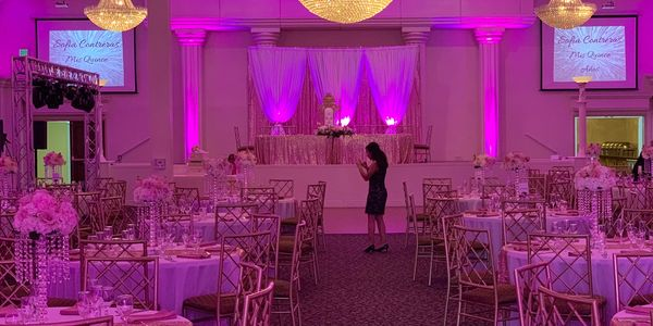 Party Rentals, chairs, linens, lighting, bistro lights, globe lighting, spot lighting, round tables