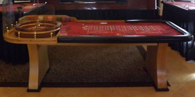 A 4 Casino Table party, Roulette, Craps, Blackjack