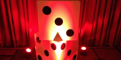 Giant white decor dice, Party Rentals