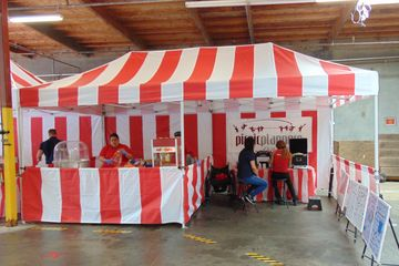 Carnival 10'x20' Red & White Tent, Pop Up Rental, Bay Area Carnival Rentals
