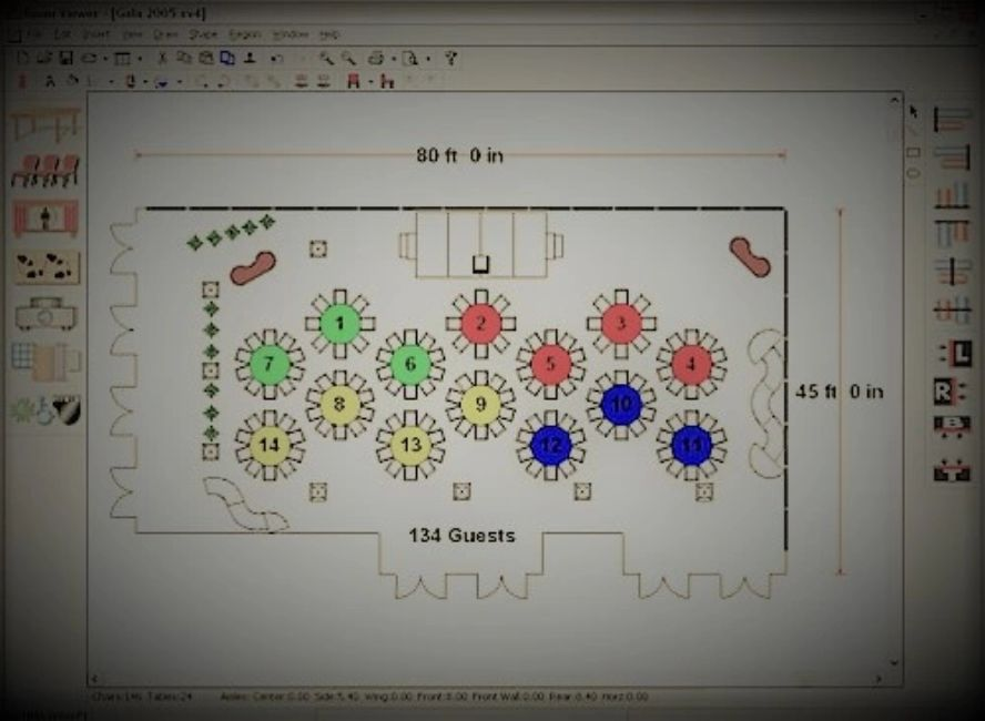 event floor plans and layouts by bay city events inc