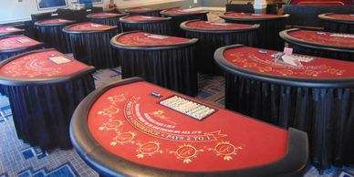 professional blackjack tables