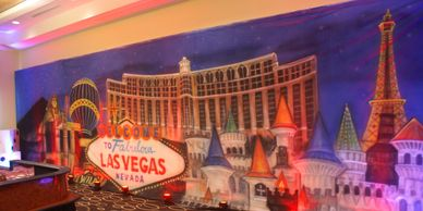 Las vegas décor, vegas backdrop