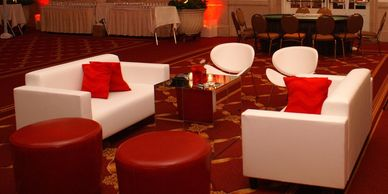 Party Rentals, chairs, tables, linens, sound, lights, stage, red carpet, stanchions, furniture, dj