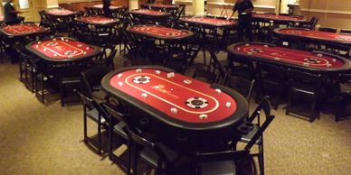 Vegas style poker tables for Texas hold'em games