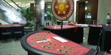 Casino Money Wheel and Table