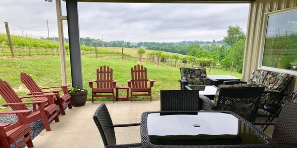Patio by the winery