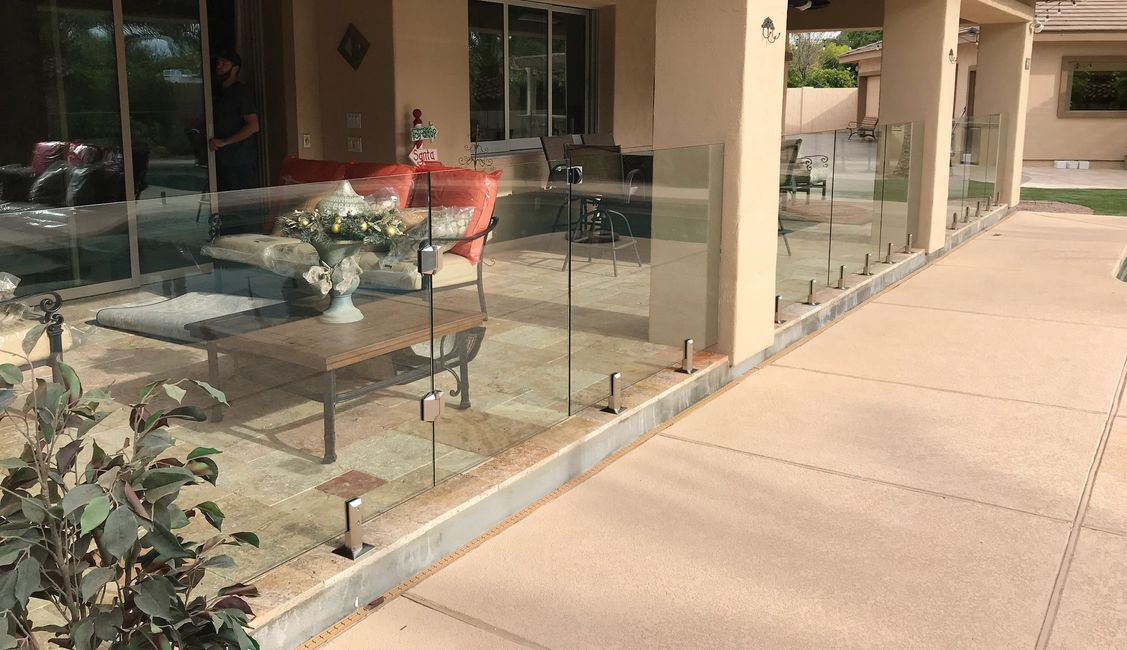 Glass view fence Pool Barrier, Glass windscreen, Pool Fence  soft closing hinges frameless pool gate