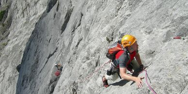 Rock climbing in the Canadian Rockies