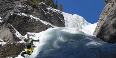 Ice climbing in the Canadian Rockies!