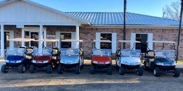 Golf carts available for rent on and off site
