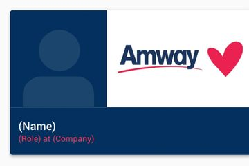 Amway Digital Business Cards