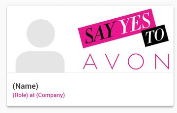 Avon Digital Business Card