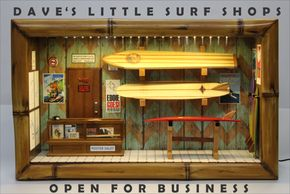 Dave's little surf shop diorama
