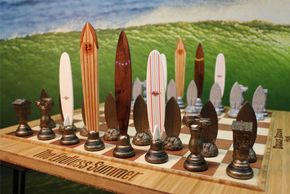 surf surfer chess set endless summer by dave c reynolds bruce brown