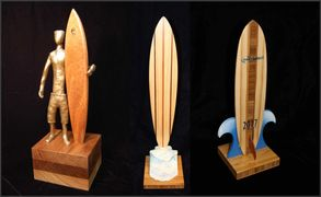 surf trophy surfboard award by Dave C Reynolds from Huntington Beach