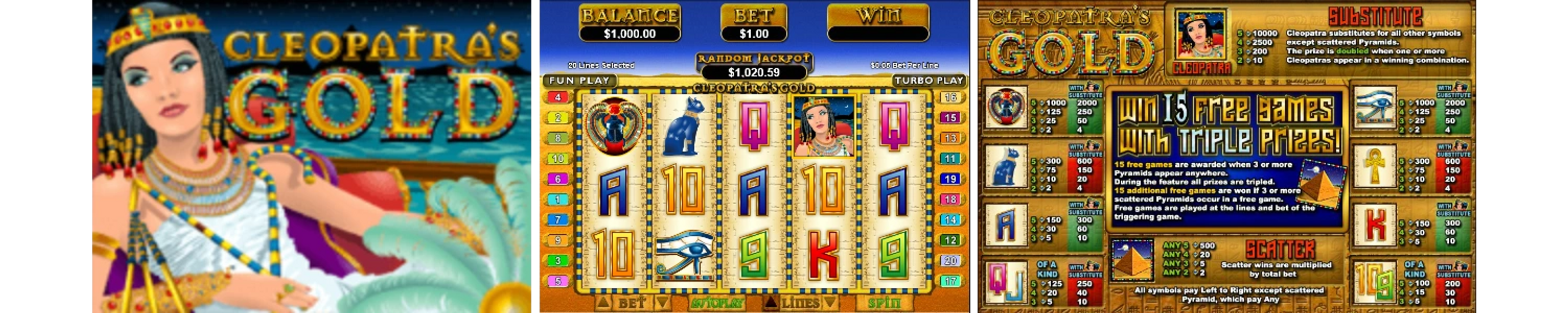Cleopatra's Gold Online Video Slot Review