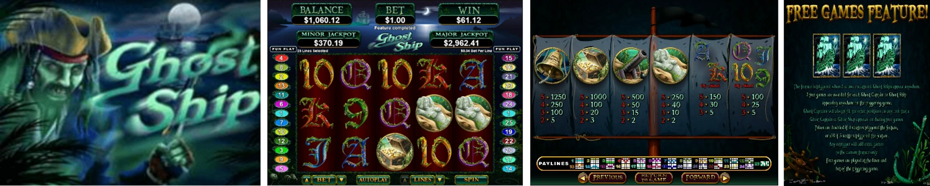 Ghost Ship Online Video Slot Review