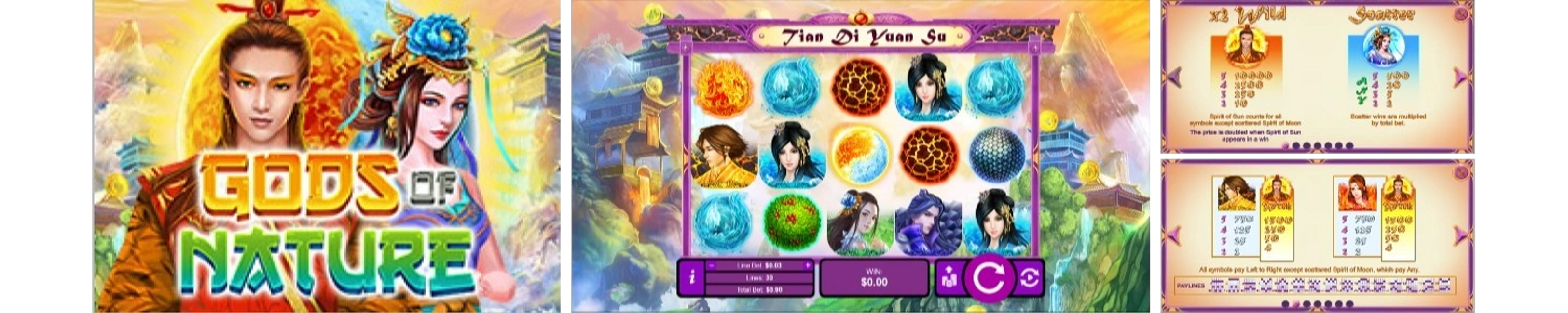 Gods of Nature Online Video Slot Review