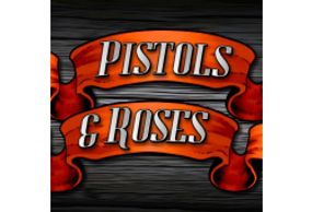 Featured Classic Slots section Pistols & Roses classic slot at Desert Nights Online Casino