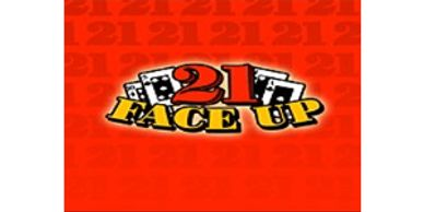 21 Face Up Blackjack table games section with $20 free at Sun Palace Casino