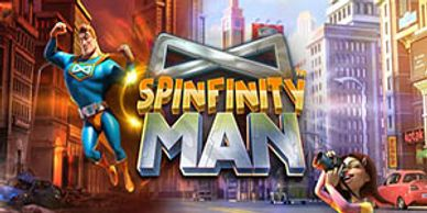 Featured video slots section Spinfinity Man video slot free spins at Vegas Crest online Casino
