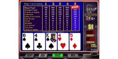 $50 Free Chip to Play Aces & Eights Online Video Poker at Vegas Casino Online. USA Players Welcome