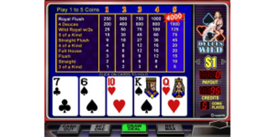 $50 Free Chip to Play Deuces Wild Online Video Poker at Vegas USA Online Casino