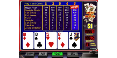 $50 Free Chip to Play Jacks or Better Online Video Poker at Vegas American Online Casino