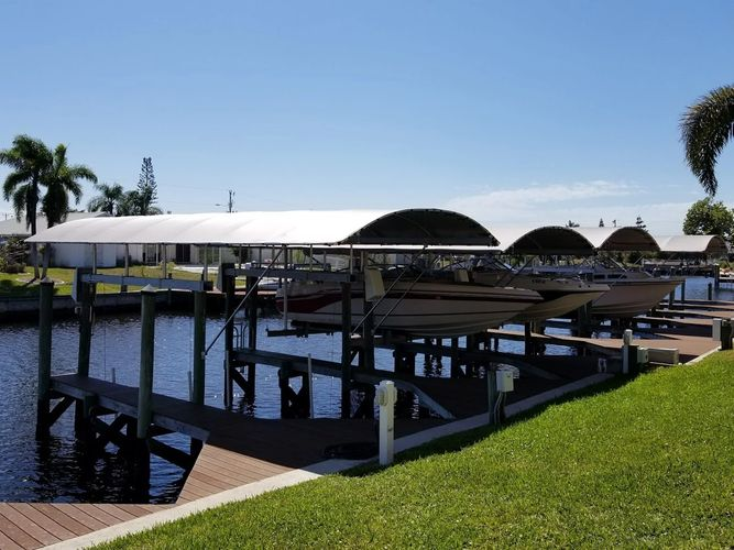 Boatlift Canopy In Cape Coral Coastline Boat Lift Covers