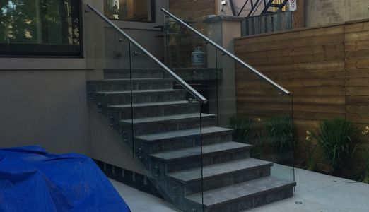 Interior & Exterior Custom Glass Railings. Wide Range Of Glass Railings System in Toronto.