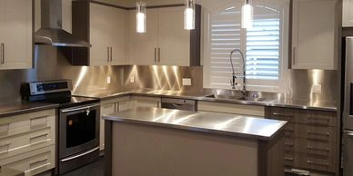 Stainless steel countertops Toronto.
