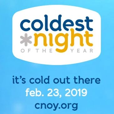 Christopher Toombs volunteers at coldest night of the year for the last 3 years.Supports community.