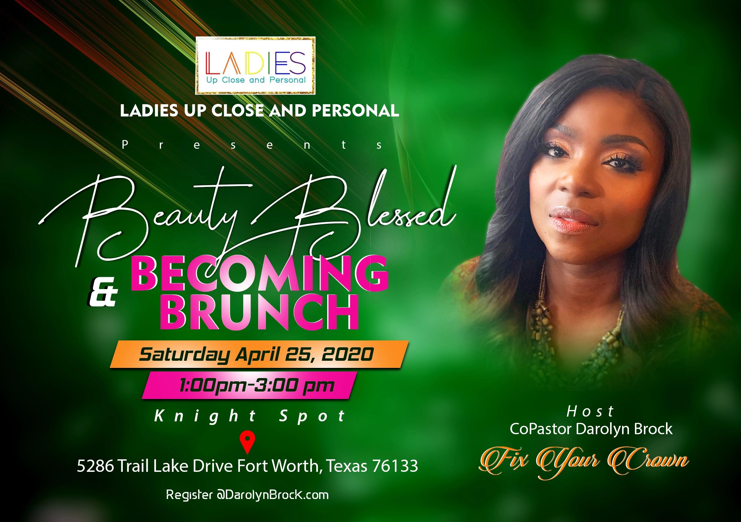Join me and my guest for a amazing Beauty, Blessed & Becoming Brunch.
