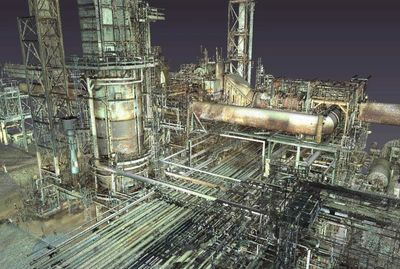 3D Laser Scanning a Petrochemical plant.