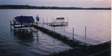 Shoreline dock and lift