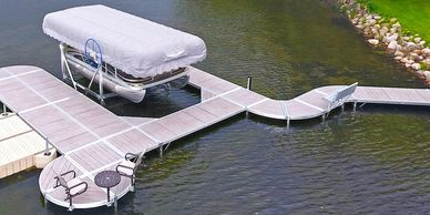 Shoremaster boat dock and lift infinity dock system