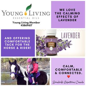 Our perfect purple bareback pad is even better with a few drops of Young Living Lavendar.