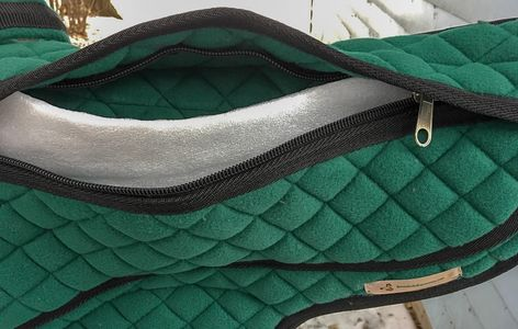 Green pad showing inner padding.
