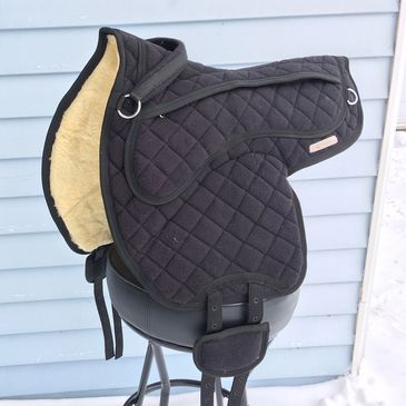 All black bareback pad