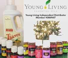 Young Living essential oils & Thieves laundry soap.