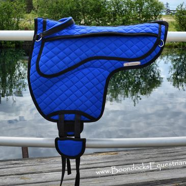Royal blue bareback pad.