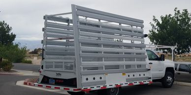 extensions on a chassis mounted weldco glass rack