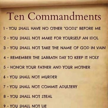 10 ten commandments