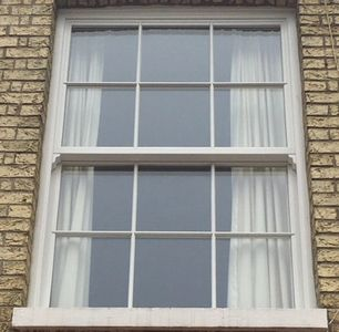 An example of uPVC sliding sash