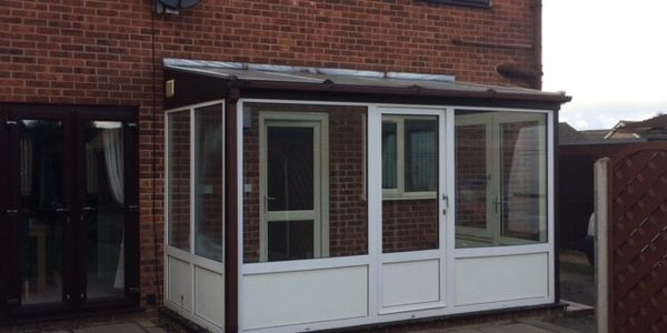 Before a new conservatory was installed