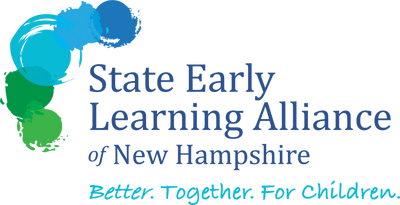State Early Learning Alliance of New Hampshire logo. Better. Together. For Children